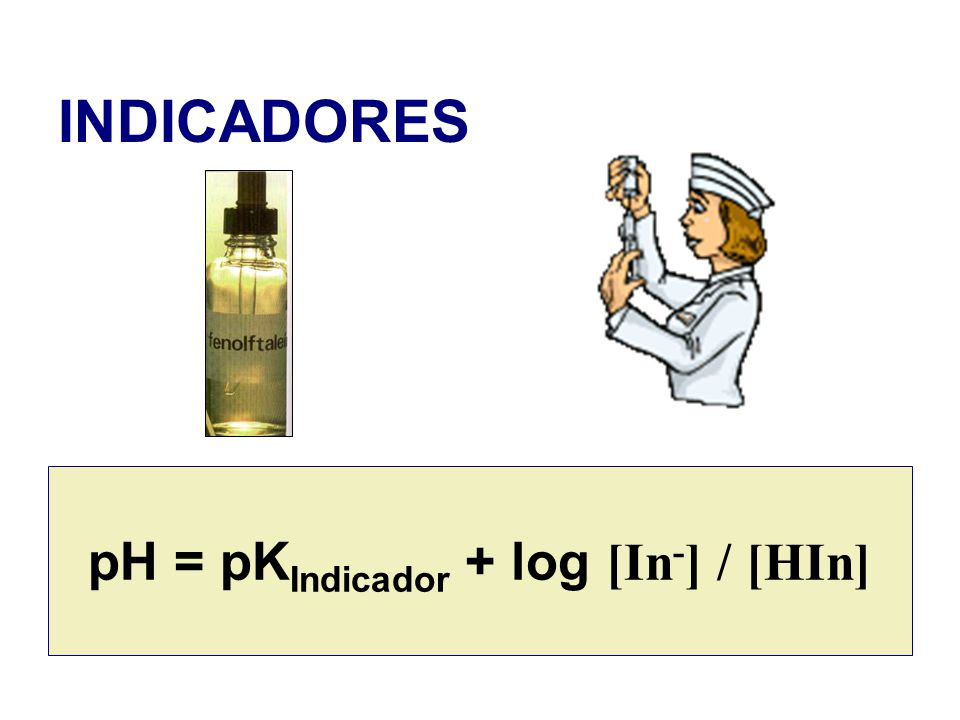 pH = pKIndicador + log [In-] / [HIn]